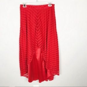 NWT Ark & Co Red High Low Skirt